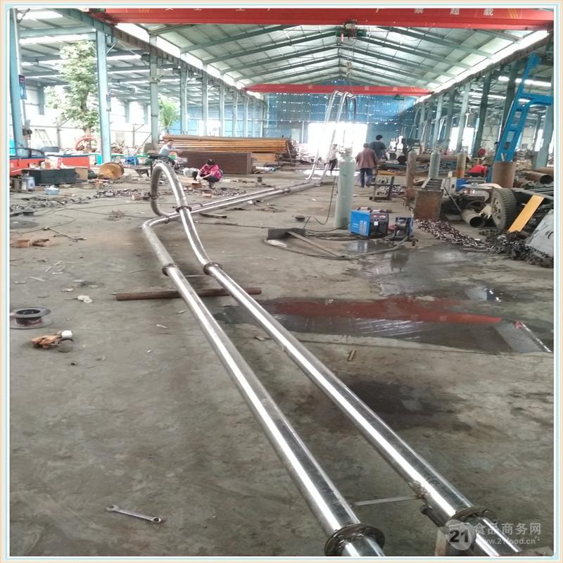 不锈钢管链输送机公司耐磨 颗粒管链输送机甘肃