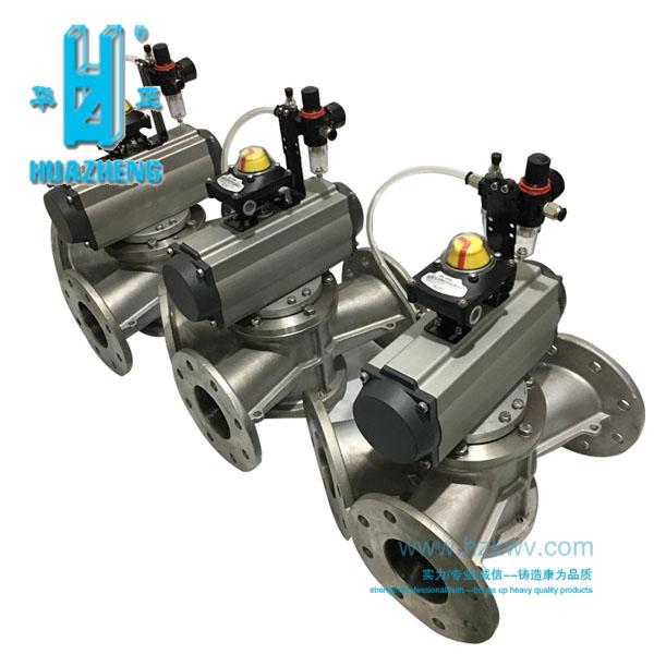 粉体换向阀厂家 三通分向阀 三通转换阀 三通分料器 粉料三通阀图片