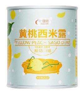 信钻酸奶黄桃西米露罐头整箱312g*6罐价格多少钱