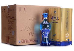 洋河蓝色经典海之蓝42度520ml*6瓶整箱装