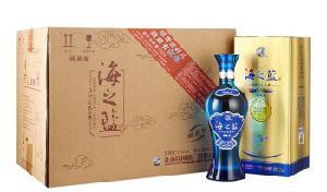 蓝色经典海之蓝52度520ml*6瓶整箱装