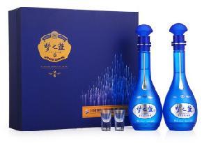 洋河蓝色经典梦之蓝M652度礼盒装500ml*2瓶