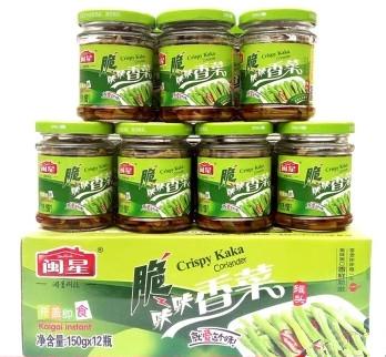 闽星脆咔咔香菜罐头150克整箱12瓶价格多少钱
