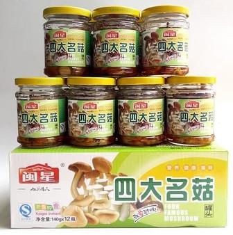 闽星四大名菇罐头140g整箱12瓶价格多少钱