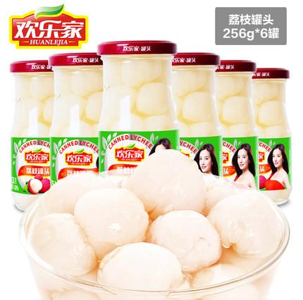 欢乐家荔枝罐头256gX6罐价格多少钱
