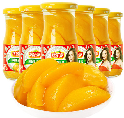 欢乐家黄桃罐头256gX6罐价格多少钱