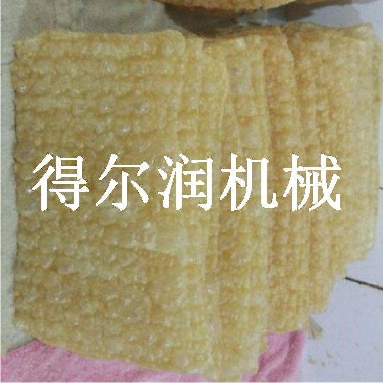 山东得尔润腐竹深加工设备 豆皮油炸生产线 响铃煎炸机器