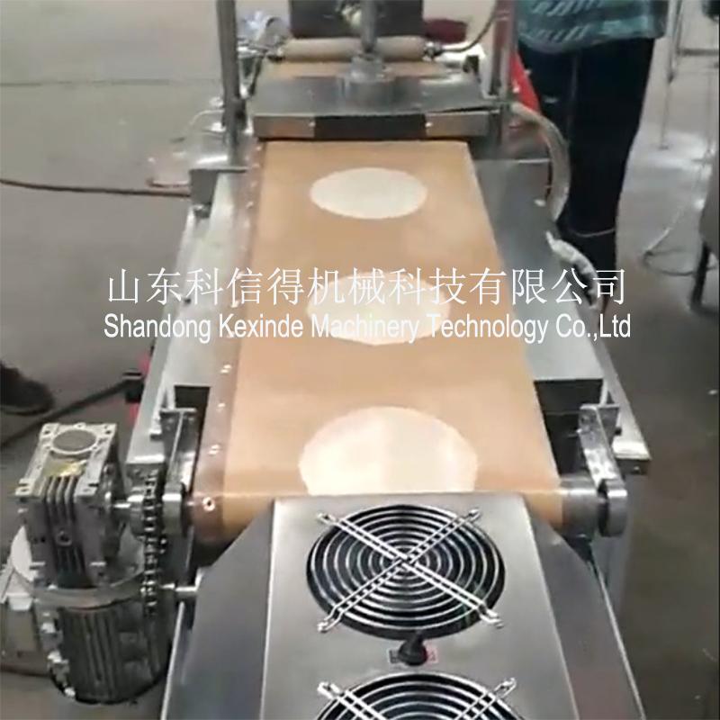 科信得全自动单排烤鸭饼机生产线 卷馍皮机厂家直销