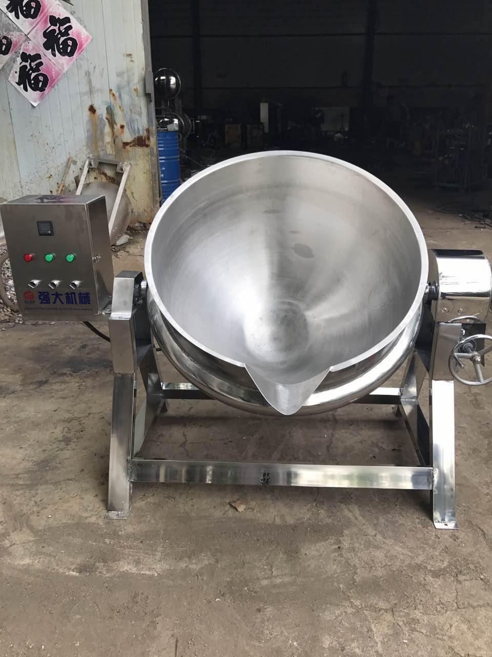 供应可倾斜出料夹层锅 多种加热方式夹层锅