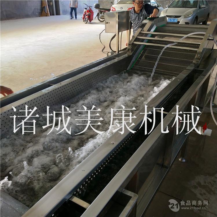 黑龙江蓝莓气泡清洗机 厂家生产果蔬净菜加工设备便宜实惠