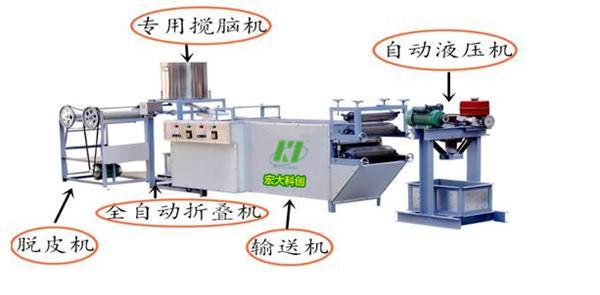 自动生产豆腐皮的机器山东 宏大科创豆腐皮机器厂家 直销