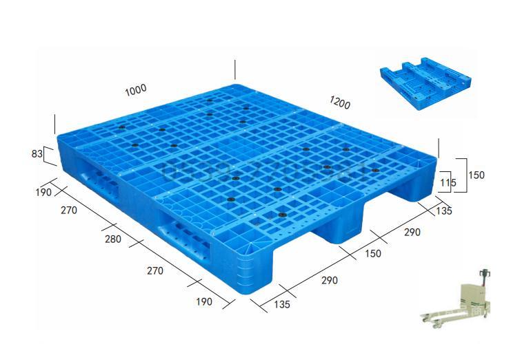 1.2米*1米QH川字网格塑料托盘