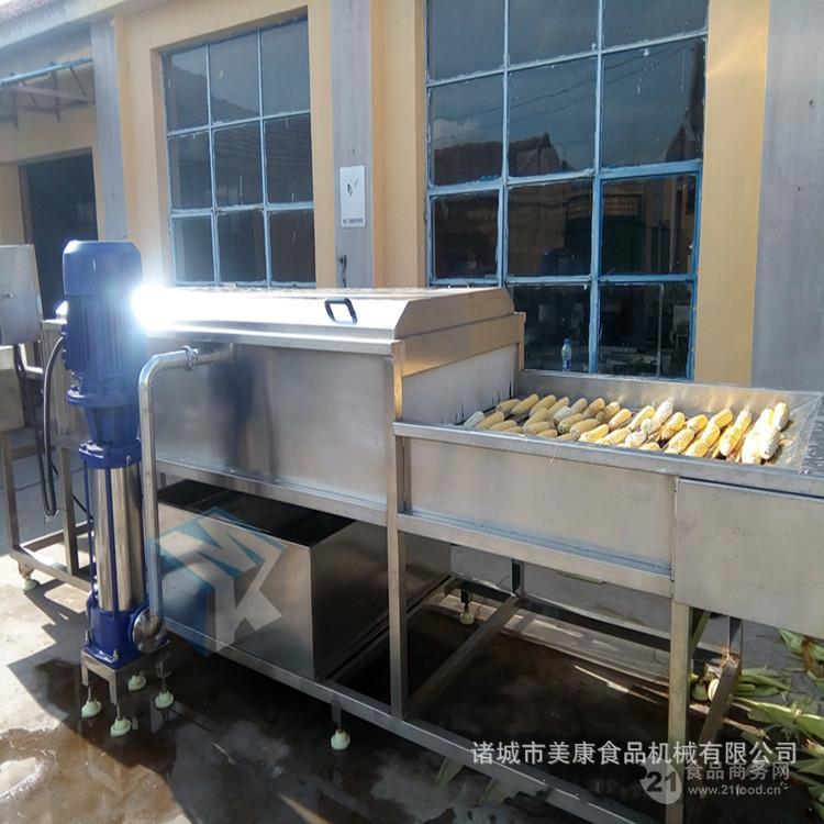 玉米清洗机生产厂家 全自动大型滚杠式玉米清洗设备