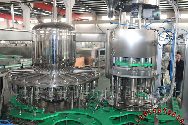 果汁加工饮料生产线 三合一瓶装果汁灌装机