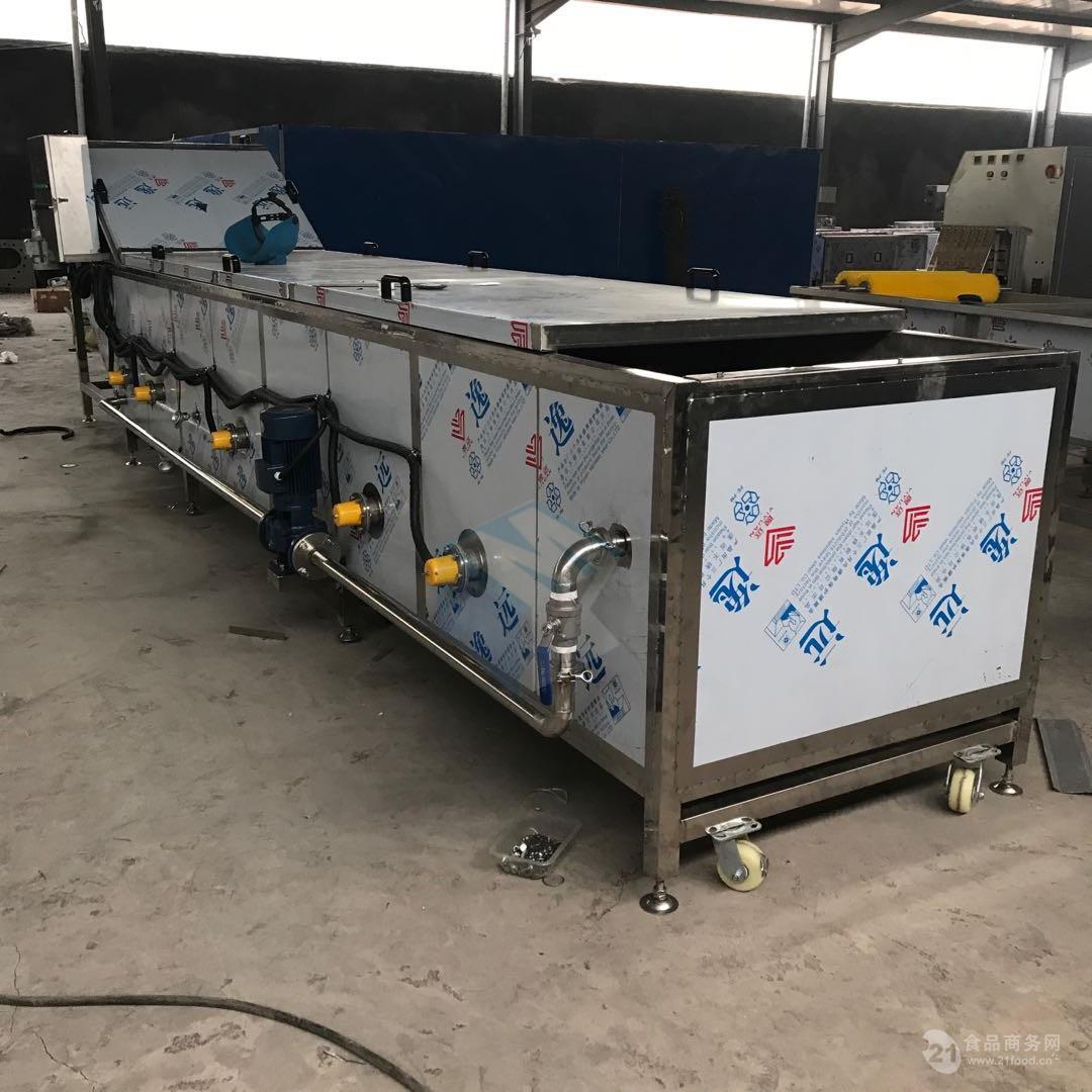 全自动海产品蒸煮机 肉制品蒸煮漂烫设备 蔬菜清洗杀青流水线