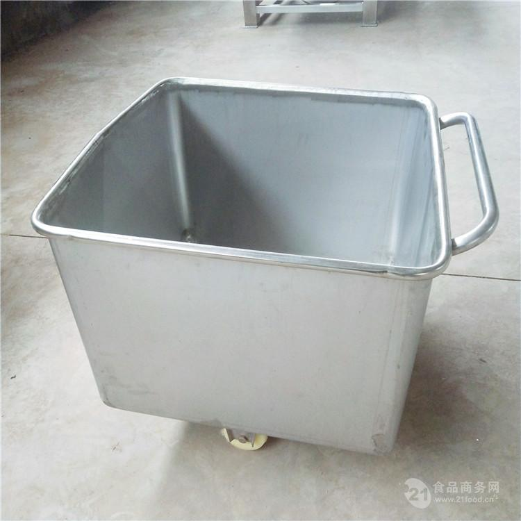 美康生产优质不锈钢手推小料车 食品用小型料斗车