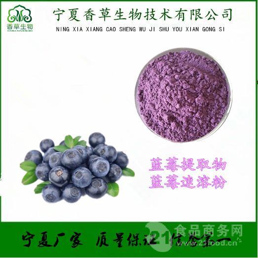 蓝莓提取物出厂价 厂家供应蓝莓粉 浓缩汁粉 蓝莓花青素25%价格