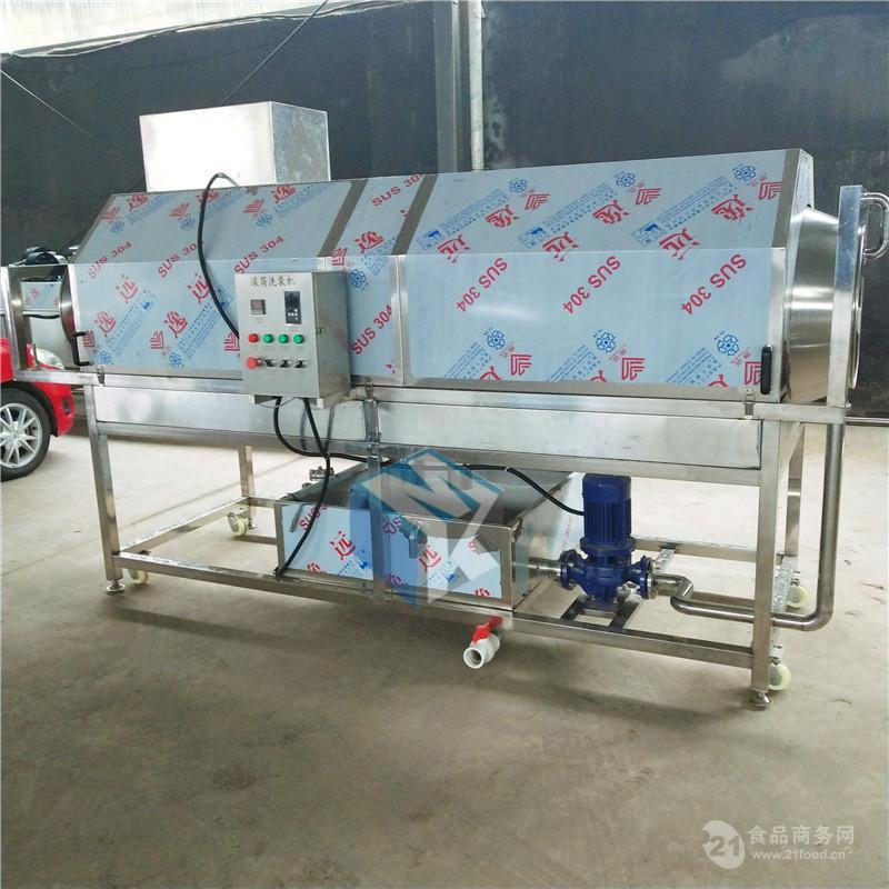 全自动滚筒鲜食花生清洗机 长寿果加工专用清洗流水线