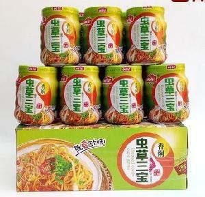 闽星香焖虫草三宝罐头170g整箱12瓶价格
