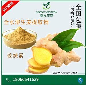 水溶性生姜提取物 10:1 姜辣素1% 全水溶 现货包邮 厂家直销