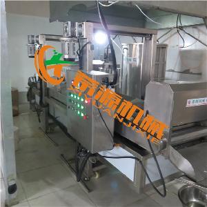 全自动裹粉鱼米花油炸机生产线多少钱