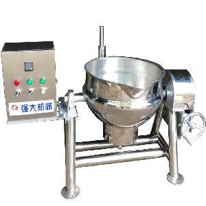 夹层锅 红枣枸杞燕麦片搅拌夹层锅