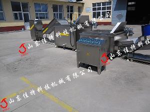 连续式鸡米花油炸生产线 大型电加热油炸流水线