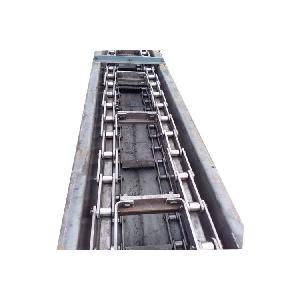 铸石板耐磨刮板式输送机密封 粮食输送机