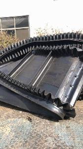 不滑料挡边输送机防油耐腐 工地专用输送机