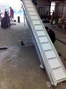爬坡裙边输送机定制 生物有机肥输送机
