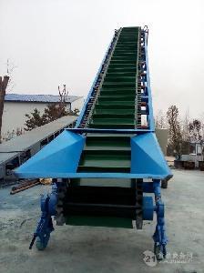 爬坡输送机调速式 橡胶带运输机