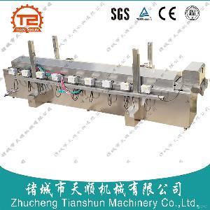 TSPT-60蘋果丁板式網帶漂燙冷卻流水線
