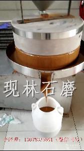 現林石磨廠家供應多種型號自動香油芝麻醬花生醬石磨