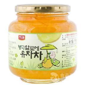 韩国原装进口蜂蜜芦荟柚子茶1000g