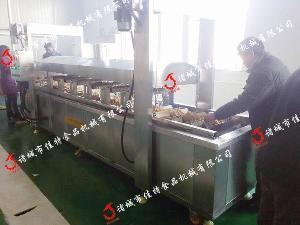 电加热豆腐串油炸机炸制不变形提高品质