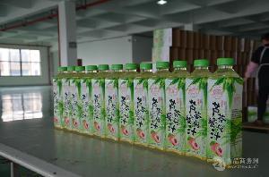 果多饮 芦荟水蜜桃汁1L家庭装 天果 水蜜桃芦荟饮料