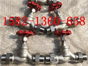 304不锈钢活接焊接外螺纹截止阀DN25