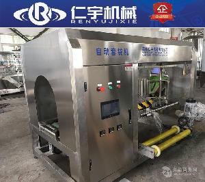 桶装水生产线设备全自动套袋机 3加仑5加仑大桶纯净水套袋机