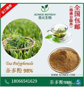 绿茶提取物 茶多酚 98% 天然抗氧化剂 厂家低价直销