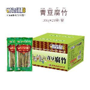 河南特产双强味思利青豆腐竹168克*35袋