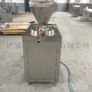 商用连续不锈钢灌肠设备糯米肠灌肠机