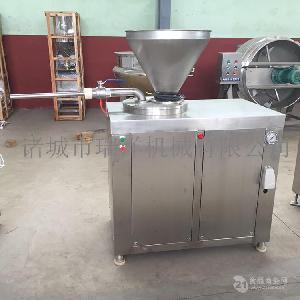 商用连续不锈钢灌肠设备川味香肠灌肠机腊肠灌肠机