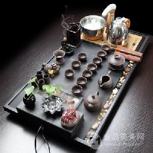 全自动电器乌金石行云流水紫砂茶具