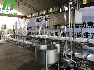 宏大大型一键式操作冲浆豆腐机设备 自动翻盒豆腐机 不锈钢制造
