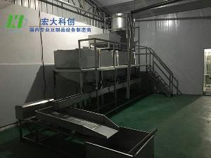 大型黄豆自动泡豆洗豆系统 宏大科创 泡豆子的设备