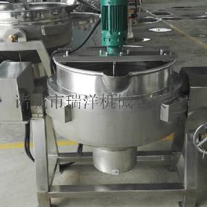 可倾式不锈钢电加热夹层锅 蒸汽蒸锅 带搅拌定制设备