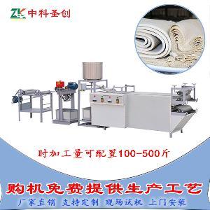 雙層不銹鋼豆片機器,大型豆腐皮機生產線