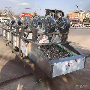供应袋装卤蛋翻转式风干机    果蔬振动沥水风干线