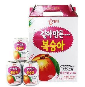 韩国进口桃汁果饮料价格