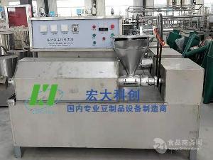 重庆牛排豆皮机蛋白肉机设备|生产豆皮的多功能机器|宏大科创